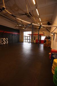 Bild på stor träningssal